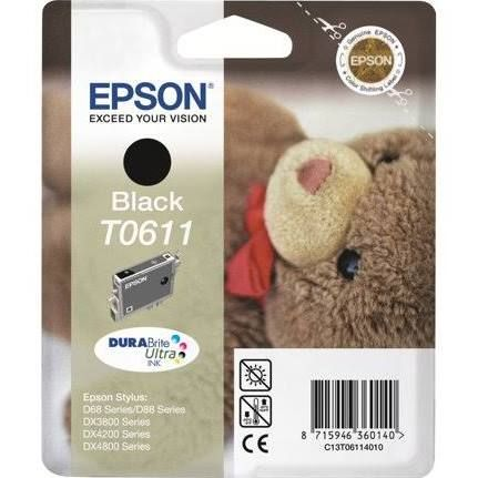 Epson T0611 Ink Cartridge - Black