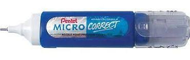 Pentel Correction Pen Micro Correct 12ml - Color: White