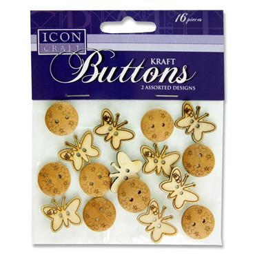 Premier Icon Craft Kraft Buttons