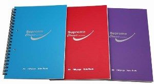 SUPREME CLASSIC A4 160pg PP SPIRAL NOTEBOOK ASST COLOURS-SIDE SPIRAL