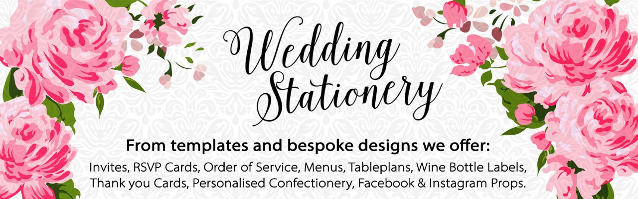 Wedding stationery available, please contact us at copyshopni@btconnect.com